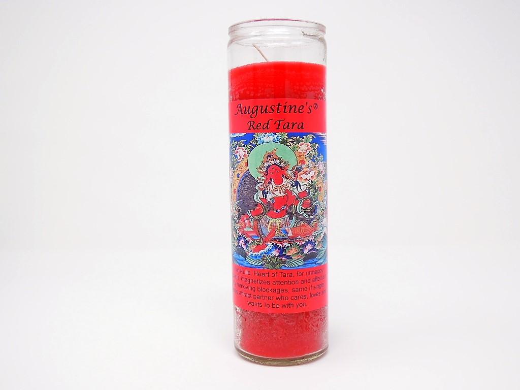 Red Tara Candle
